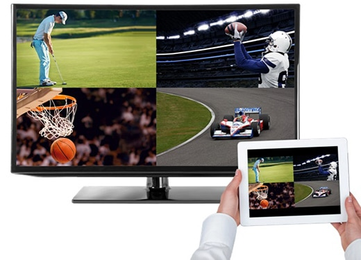 Stream four live TV shows at once