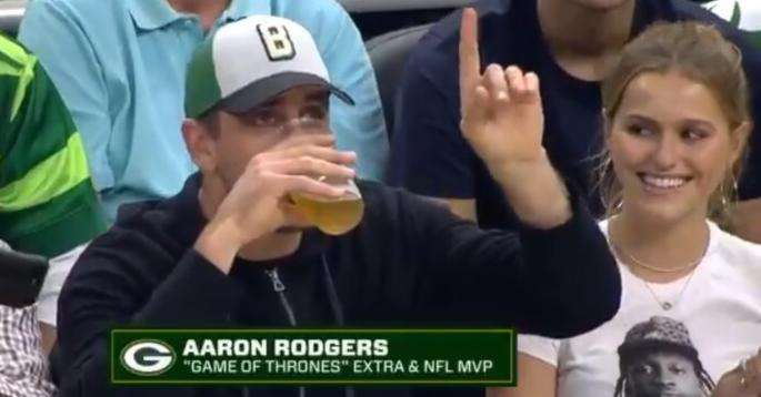 Aaron Rodgers Beer Chug Promo