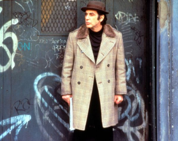 """Al Pacino in Donnie Brasco - Pacino went from coke-addled hoodlum to well-dressed gangster with 1997'sDonnie Brasco, in which he plays Lefty, a hit man with some personal problems. Donning a dark plaid overcoat with a shearling collar and a trilby hat, Pacino embodied the phrase, """"down but not out."""