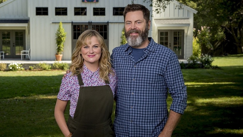 Amy Poehler and Nick Offerman