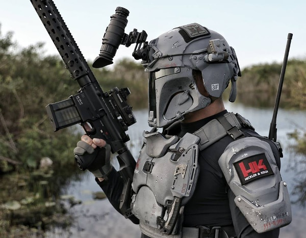 Looking like a bulletproof badass bounty hunter
