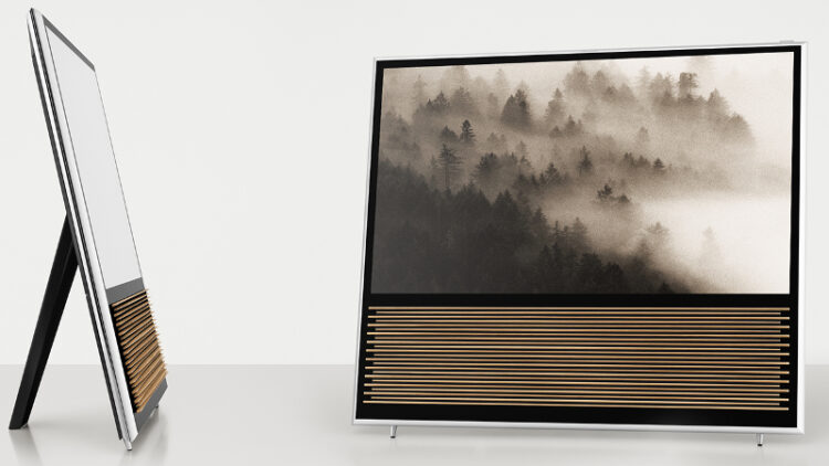The wood-infused BeoVision 14 UHD TV (Photo: Bang & Olufsen)