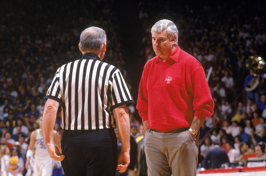 Bobby Knight being calm for a second