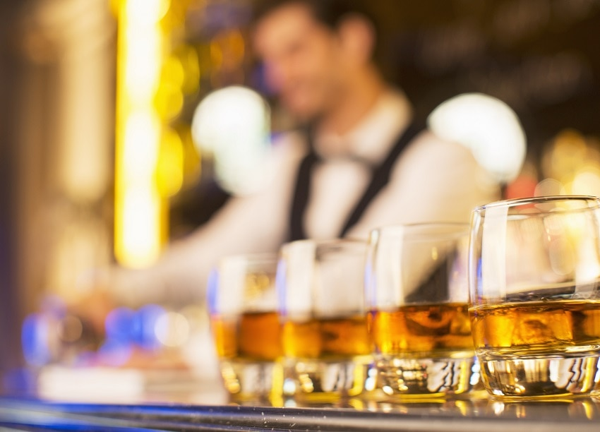bourbon on a bar