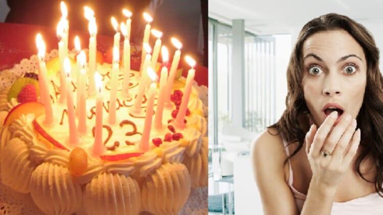 Shocking birthday cake