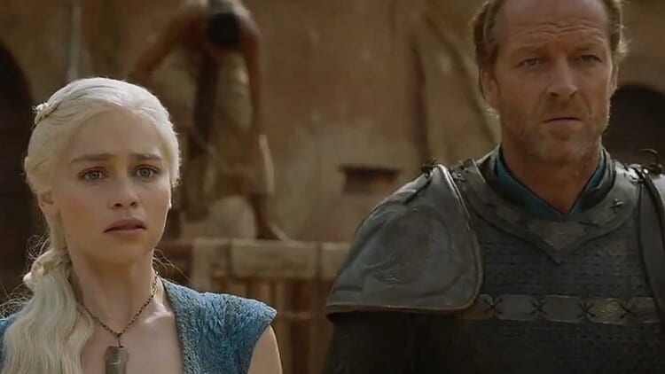 Daenerys Targaryen and Ser Jorah