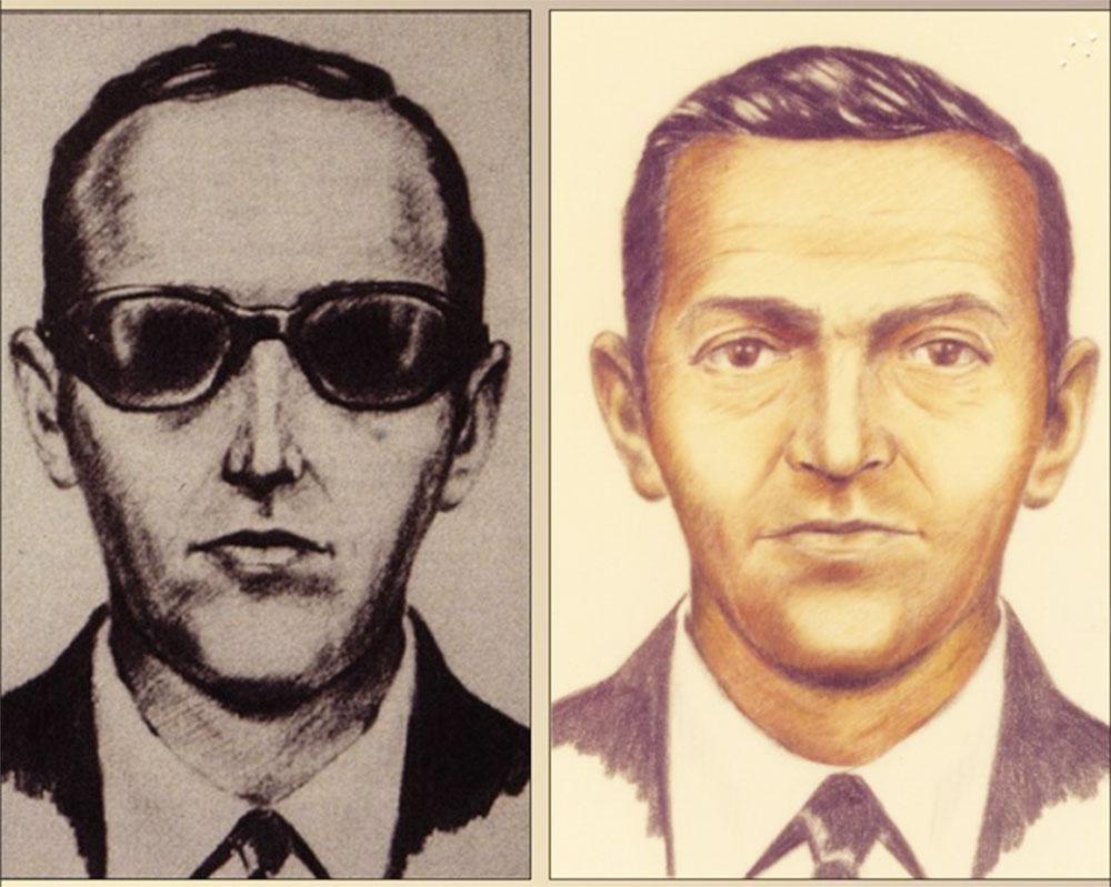 Suspect sketches for D.B. Cooper. (Image: FBI.gov)
