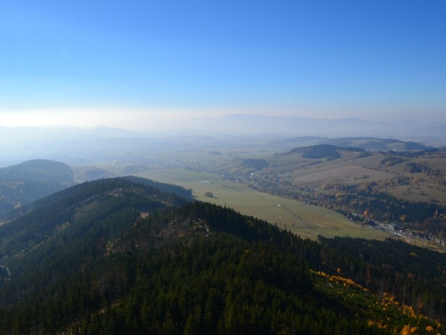 The view from atop Sky Walk, Dolni Morava