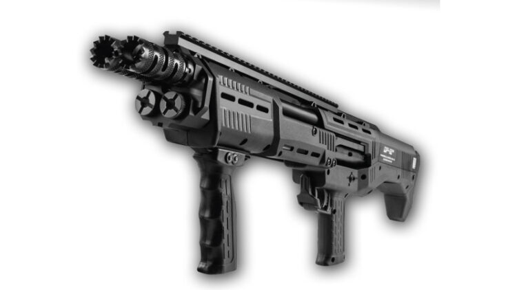 The DP-12 sports 16 rounds of serious firepower