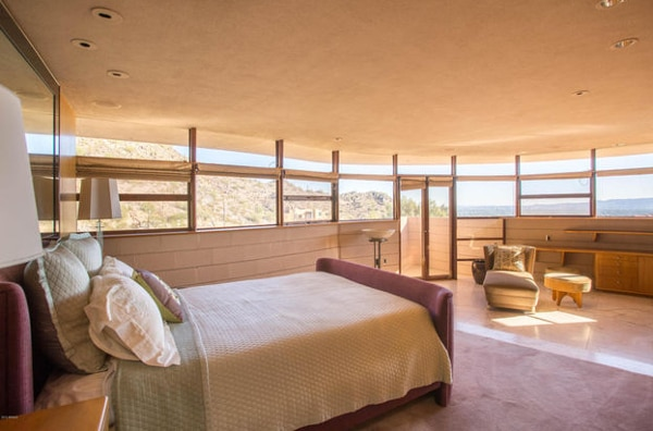 Lots of natural light and great vistas in the bedroom