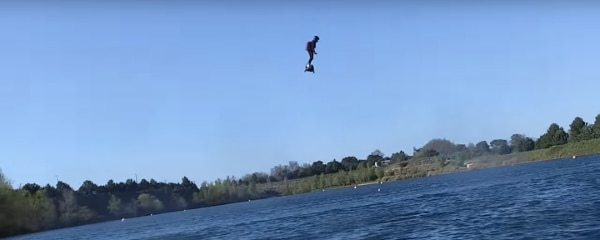 The Flyboard Air can supposedly reach 10,000 ft and 93 MPH