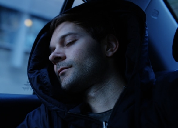 The Hypnos hoodie has a built-in inflatable pillow