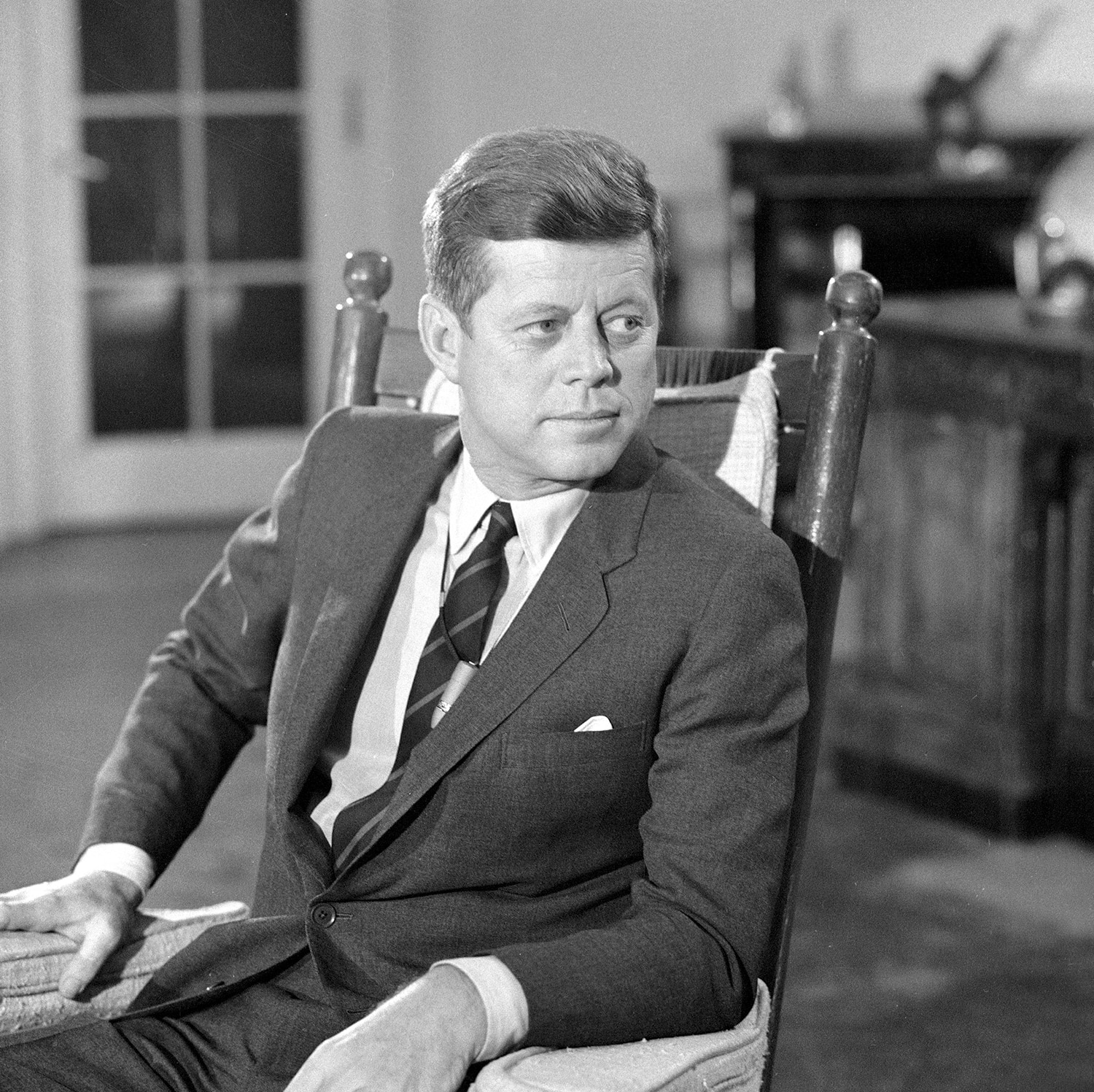 John F. Kennedy - Statesman, military commander, and advocate of close-cropped sides and full-on side swoop.Photo by:CBS Photo Archive/Getty Image