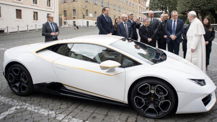 Pope's Lamborghini