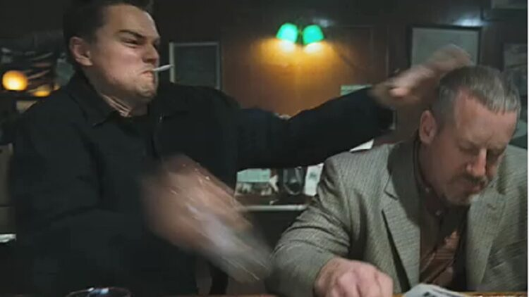 Leo The Departed glass smash