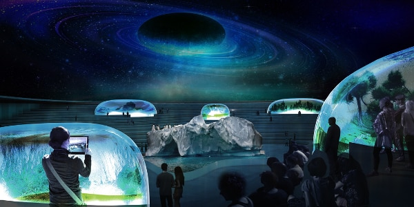 A retractable roof doubles it as a planetarium