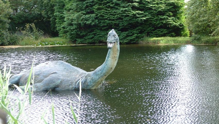 Loch Ness monster statue