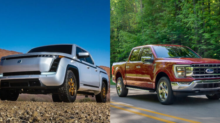 Lordstown Endurance vs Ford F-150 Promo