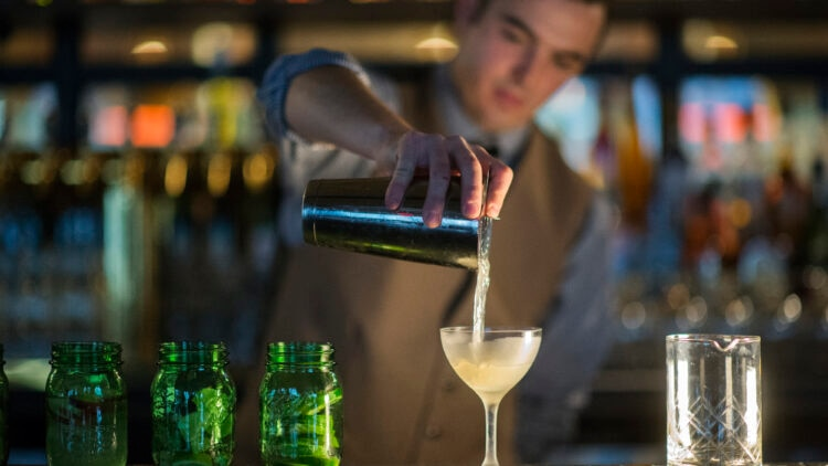 Making Cocktails at the Copper Grouse