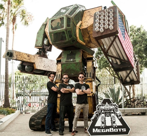 MegaBot uses two drivers and hurls paintballs