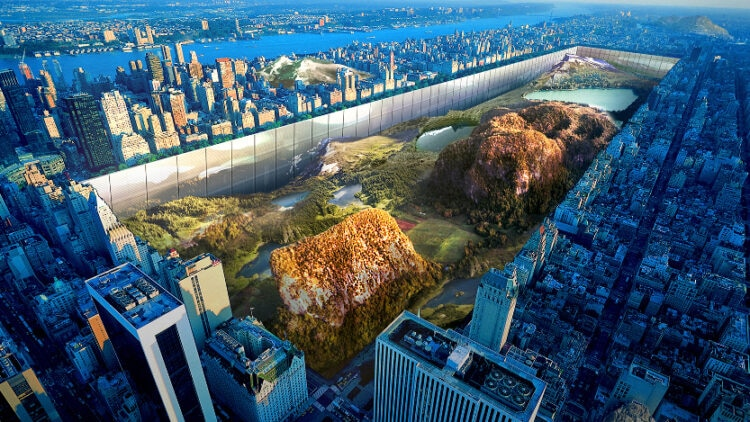New York Horizon would wall in an unearthed Central Park