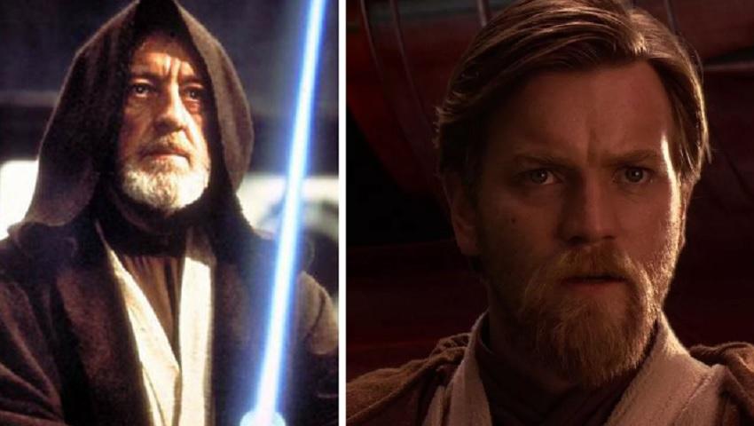 Obi-Wan Kenobi aka Alec Guinness and Ewan McGregor