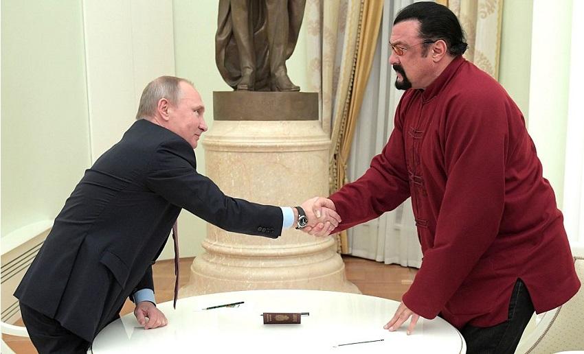 Vladimir Putin Steven Seagal Getty
