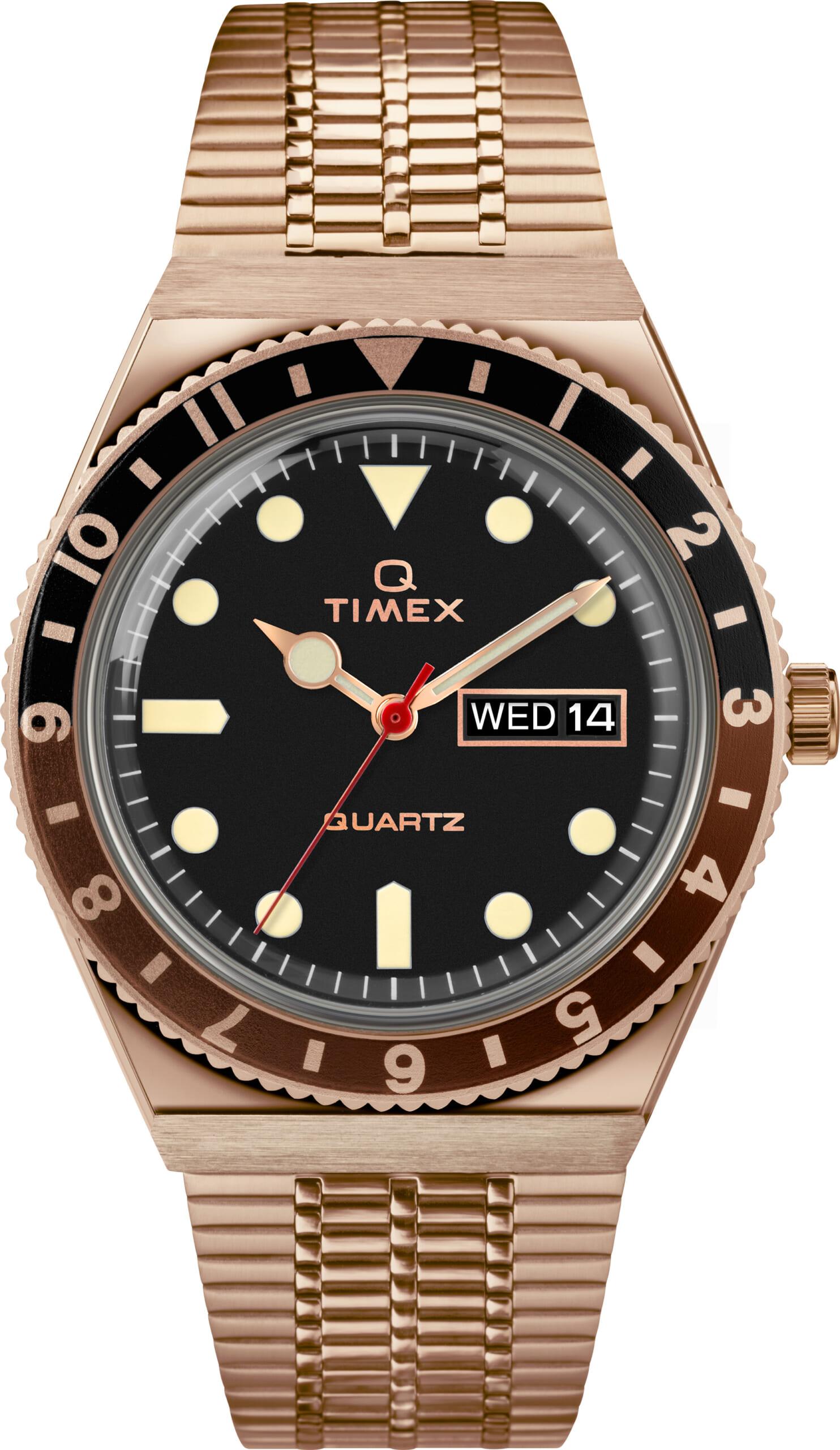 TW2U61500 Rose Gold-tone Black Dial Black/Brown ring