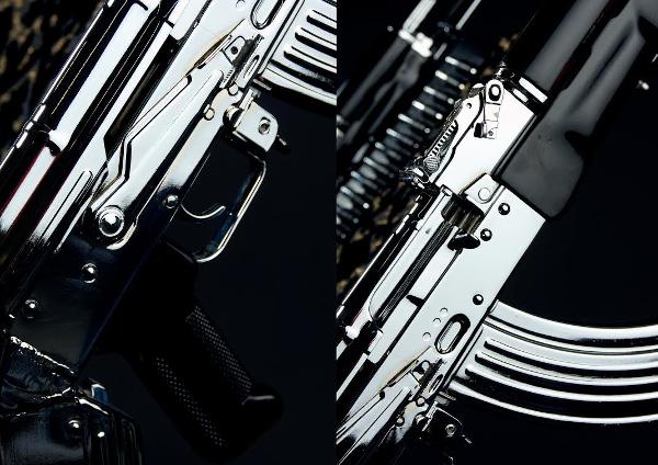 AK47s, up close and shiny