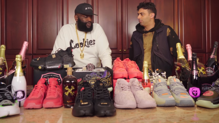 Rick Ross Sneaker Collection Promo