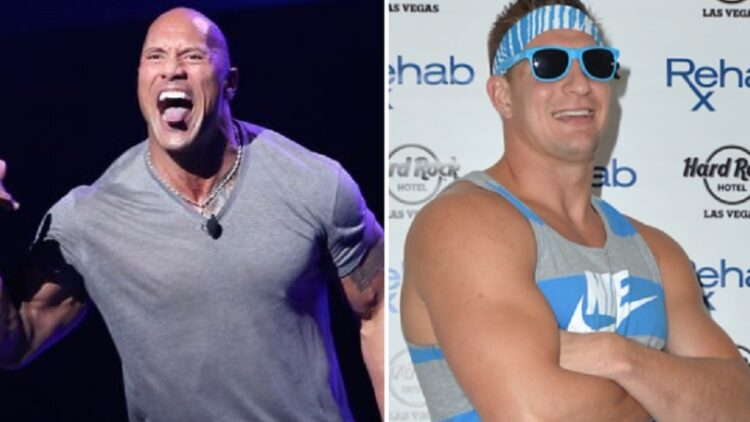 The Rock and Gronk