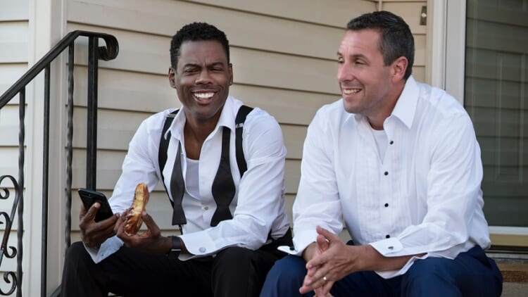 Chris Rock and Adam Sandler in a lame movie