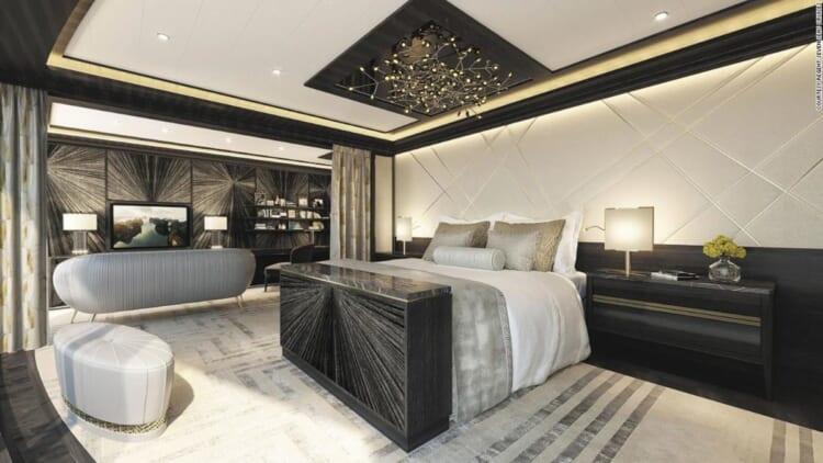 seven seas biggest cruise ship suite