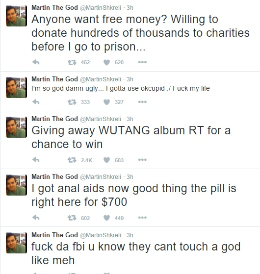 Shkreli Twitter screengrab