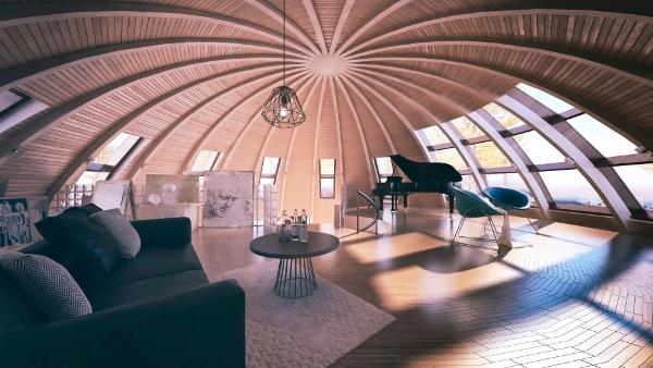 Interior of a SkyDome cabin (Courtesy of SkyDome)