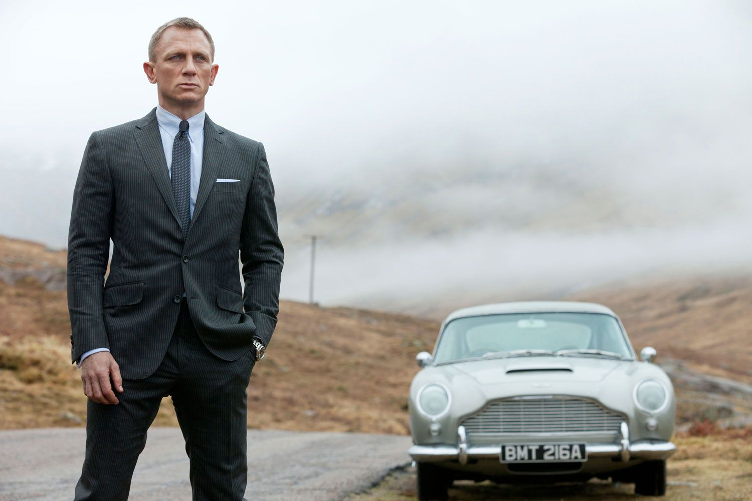 Skyfall (2012) - Aston Martin DB5 - The Driver: Daniel Craig, locked in combat with an evil ponytail also suffering from an Oepipus complex.The Car: The drive from London to Bond's childhood home through the Scottish highlands is our favorite scene in any Bond film, full stop. Nothing goes better with dreary UK B-roads than a silver DB5 carrying Dame Judi Dench.The Evolutionary Leap: Somehow, Sam Mendes imbued Skyfall with the same nuance and devastation he brought to Revolutionary Road. Nostalgics might whimper, but with the best treatment of the best car and the second-best Bond, this is the finest of the franchise.