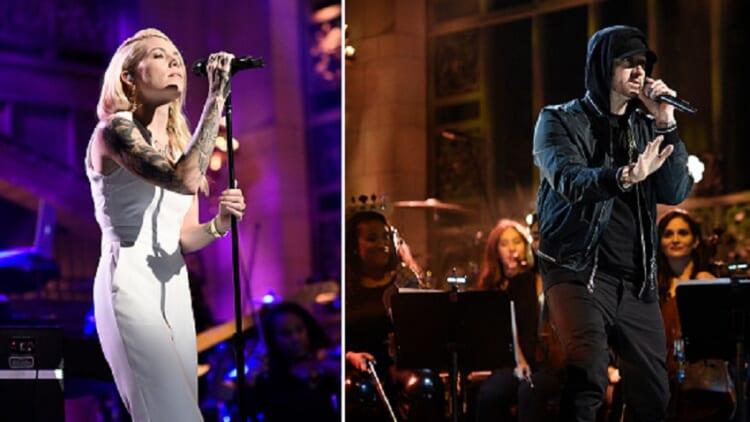 Skylar Grey and Eminem on SNL