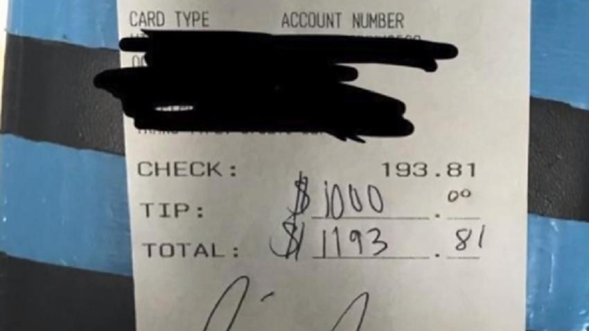 Chrissy Teigen's receipt