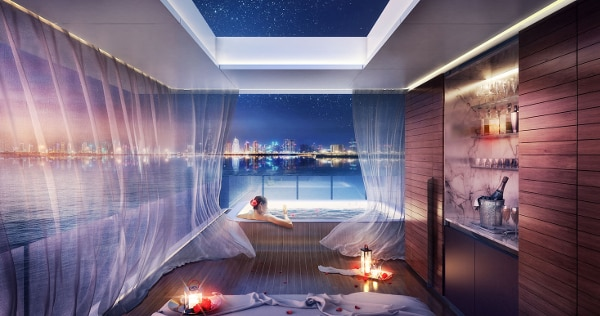 Above deck, jetted tub and amazing views
