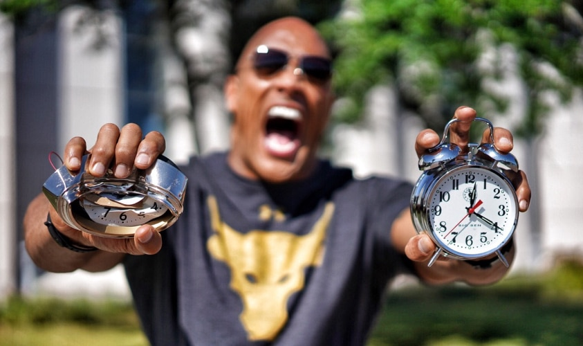 The Rock will motivate you to wake each day