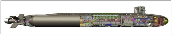 An illustration of what the SSBN(X) may look like