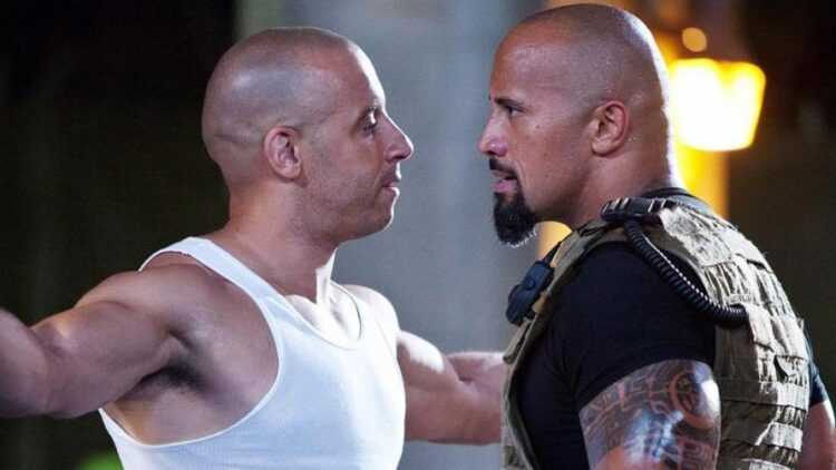 vin diesel the rock fast and furious promo