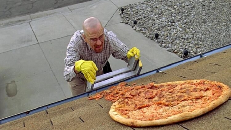 Walter White and a pizza