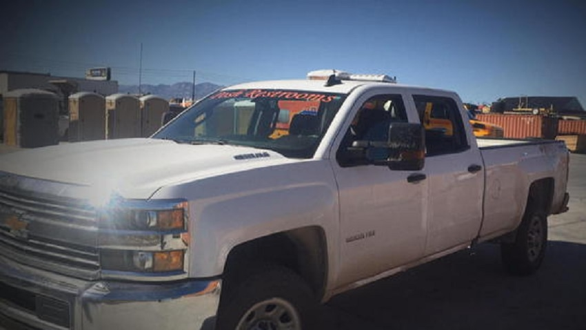 White truck used in Vegas rescue