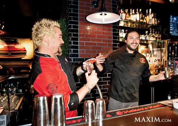 Guy Fieri and former Maxim editor Patrick Carone