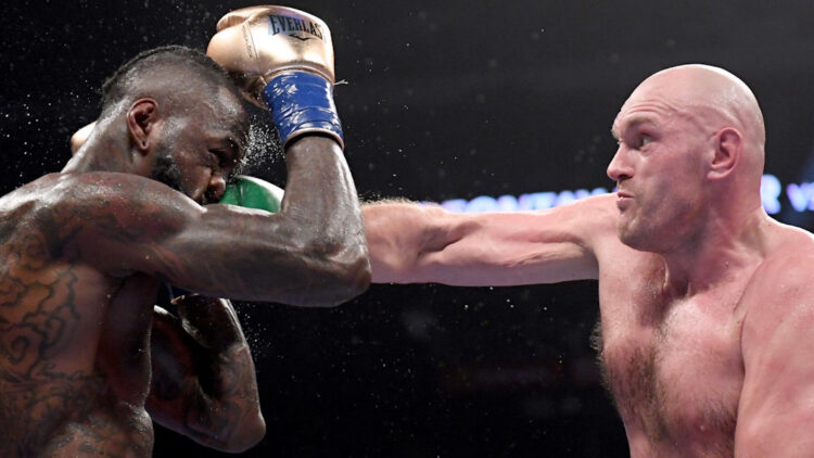 Tyson Fury connects with right hand in classic 3rd fight with Deontay Wilder