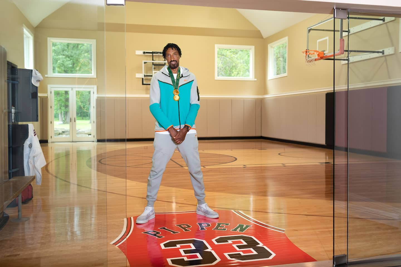 Scottie Pippen in his Chicago-area home.