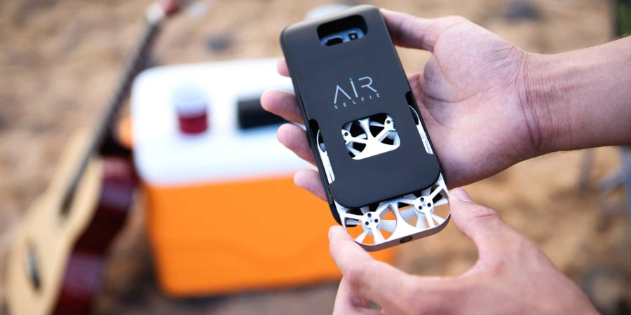 Its charging case holds your phone too (Photo: AirSelfie)