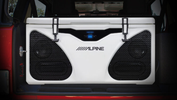 Alpine's In-Cooler Entertainment system (Photo: Alpine Electronics of America)