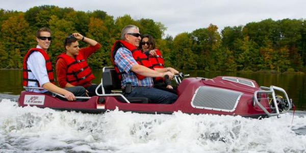 Up to 4 MPH at sea, 25 MPH on land (Photo: Ontario Drive and Gear)